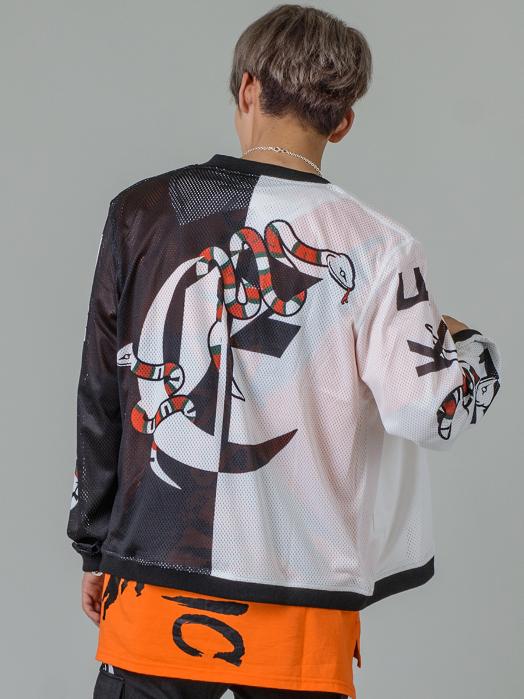 スネークコラージュボンバージャケット