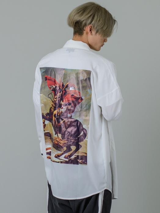 ビッグシルエットドルマンスリーブシャツ