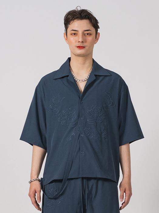ビッグシルエット刺繍シャツ