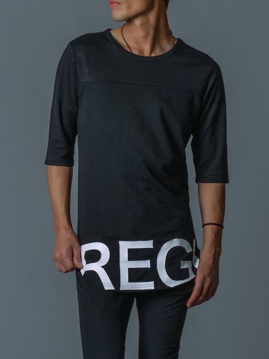 ラウンドヘム7分袖Tシャツ